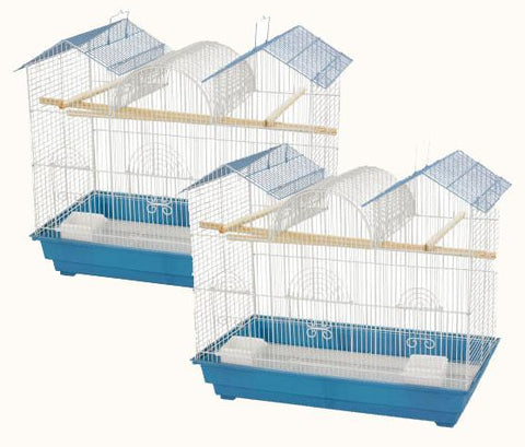 Cockatiel or Parakeet Triple Roof Bird Cage - Case of 2 (1804TR) - Peazz.com