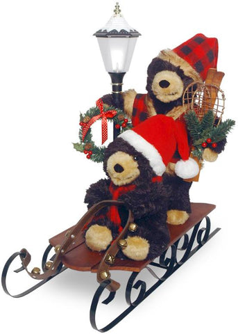 "National Tree PL27-CH1418 26"" Sleigh with Bears and Lantern - Peazz.com"