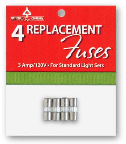 National Tree RF-4 4 Replacement Fuses for Light Sets -UL-2.5 Volts - Peazz.com