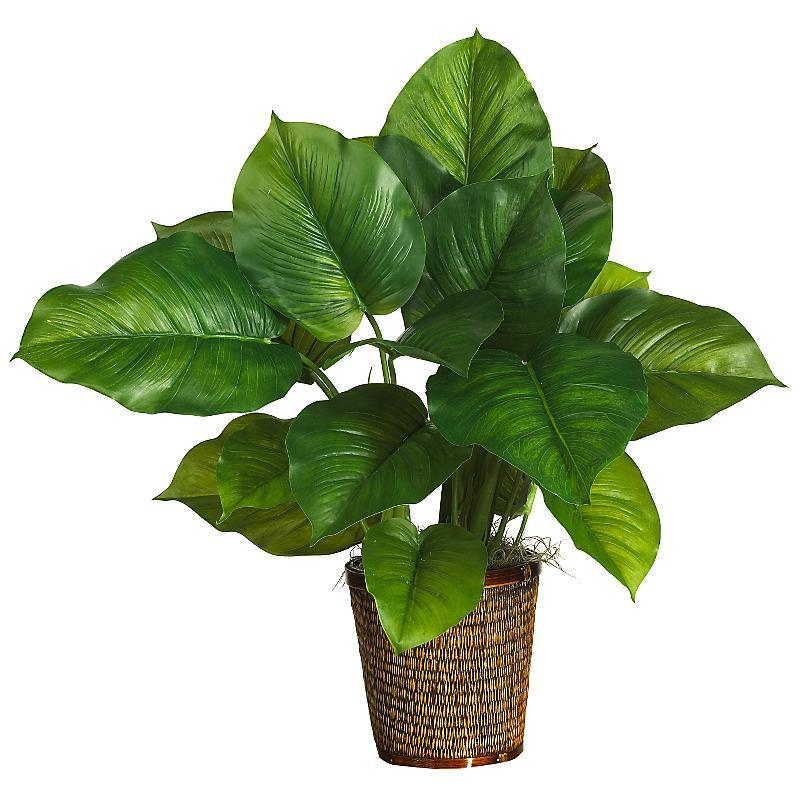 29 Large Leaf Philodendron Silk Plant Real Touch