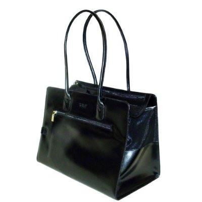 Purse Pet Carrier - Shiny Black - Peazz.com