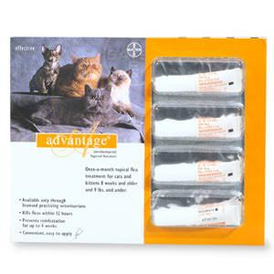Advantage Flea Treatment for Cats 1-9 Lbs (6 Pack) - Peazz.com