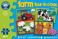 Orchard Toys Farm Four In A Box Puzzle 209 - Peazz.com