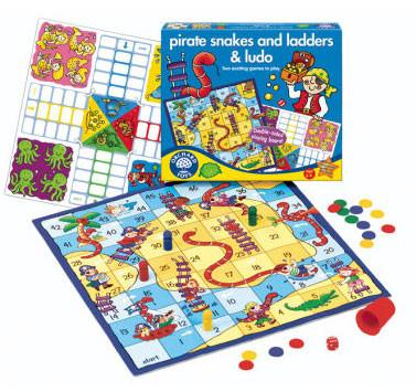 Orchard Toys Pirate Snakes & Ladders & Ludo 040 - Peazz.com