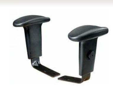 Office Star Work Smart 04-ARMS-3 Height Adjustable Arms Designed for 2902 and 98341 Only - Peazz.com