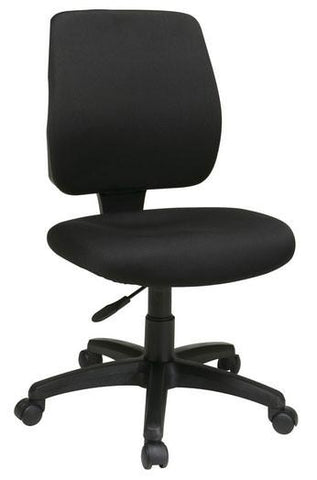 Office Star Work Smart 33101-30 Deluxe Task Chair with Ratchet Back Height Adjustment without Arms - Peazz.com