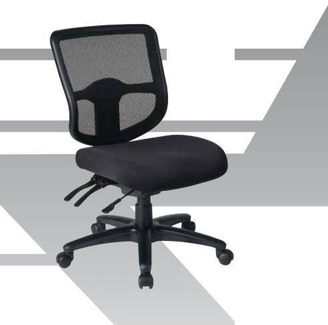 Office Star Work Smart 33107-30 Deluxe Task Chair with Ratchet Back Height Adjustment with Height and Width Adjustable Arms - Peazz.com