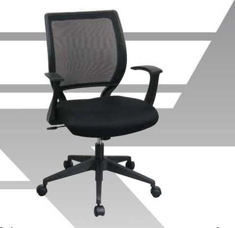 "Office Star Work Smart EM51022N-2 Screen Back Task Chair with ""T"" Arms - Peazz.com"