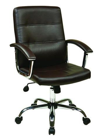 Office Star Ave Six MAL26-BK Malta Office Chair in Black - Peazz.com