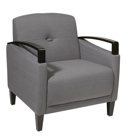 Office Star Ave Six MST51-W12 Main Street Chair in Woven Charcoal - Peazz.com