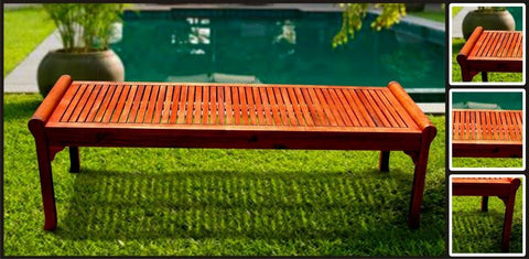Vifah V437 Outdoor Wood Bench - Peazz.com