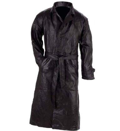 B&F System GFTR4X Giovanni Navarre Italian Stone Design Genuine Leather Trench Coat - Peazz.com