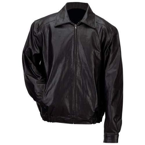 B&F System GFBSLM Gianni Collani Mens Solid Genuine Leather Bomber-Style Jacket - Peazz.com