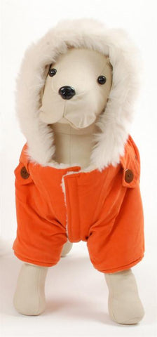 Pet Ego Dogrich Italian Orange Winter Coat Size 16 - Peazz.com