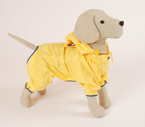 Pet Ego Dogrich Rainforest Yellow Raincoat Size 10 - Peazz.com