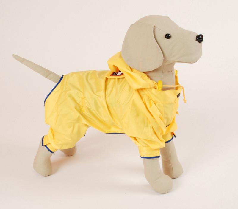 Pet Ego Dogrich Rainforest Yellow Raincoat Size 12