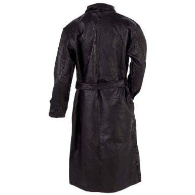 B&F System GFTRM Giovanni Navarre Italian Stone Design Genuine Leather Trench Coat - Peazz.com