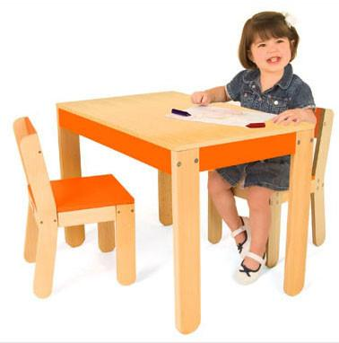 P'kolino Little One's Table and Chairs Orange PKFFTCORG - Peazz.com