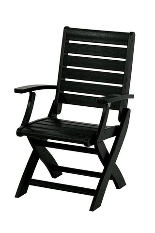 Polywood 1900-BL Signature Folding Chair in Black - PolyFurnitureStore