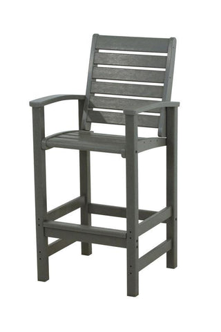 Polywood 1912-GY Signature Bar Chair in Slate Grey - PolyFurnitureStore