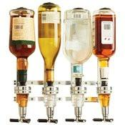 B&F System KTLQDSP4 Wyndham House 4-Bottle Liquor Dispenser - Peazz.com