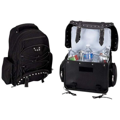Diamond Plate™ Heavy-Duty PVC Motorcycle Cooler Bag and Backpack - Peazz.com