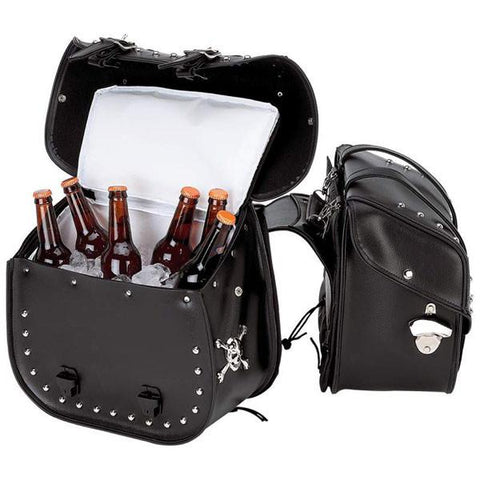 Beer Bags™ 4pc Studded Motorcycle Saddlebag Cooler Set - Peazz.com