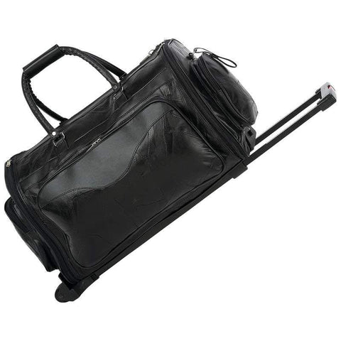 B&F System LUTRDFFD Embassy 21 Italian Stone Design Genuine Leather Folding Trolley/Tote Bag - Peazz.com