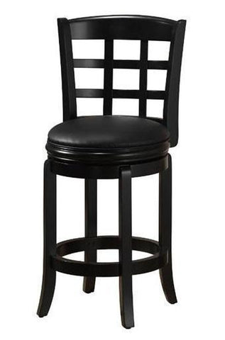 "Boraam 24"" Kyoto Swivel Stool - Black (45225) - BarstoolDirect.com"