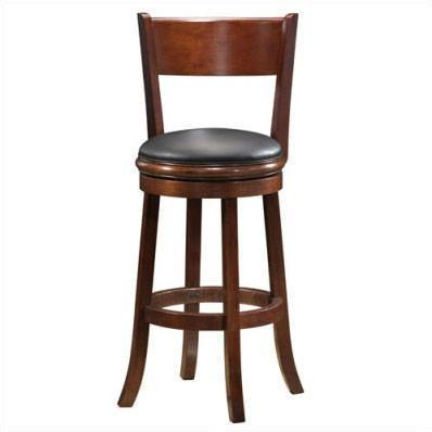 "Boraam 24"" Palmetto Swivel Stool - Walnut (47124) - BarstoolDirect.com"