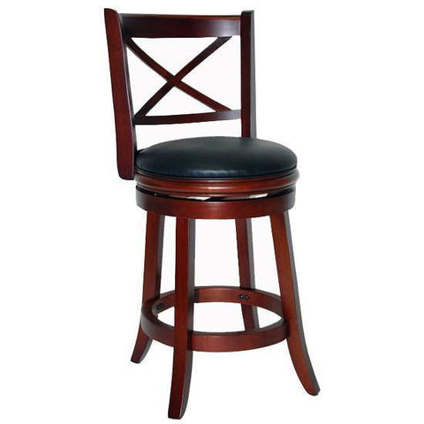 "Boraam 24"" Georgia Swivel Stool - Lt. Cherry (49624) - BarstoolDirect.com"