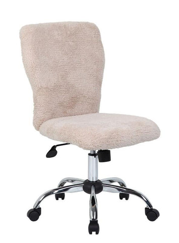 Boss Office Products B220-FCRM Tiffany Fur Chair-Cream - Peazz.com