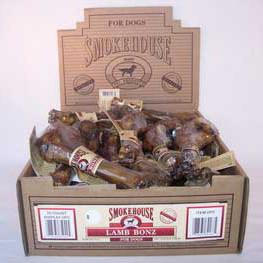 Smokehouse Lamb Bonz Shelf Display Box 30ct - Peazz.com