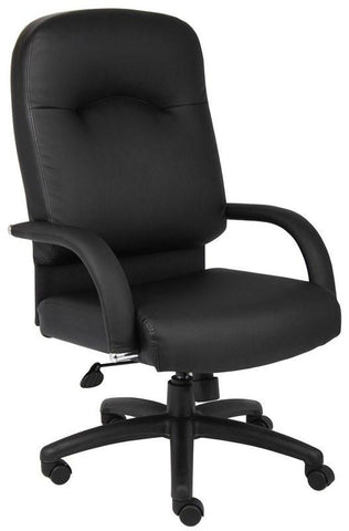 Boss Office Products B7402 Boss High Back Caressoft Chair In Black W/ Knee Tilt - Peazz.com