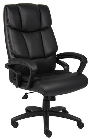"Boss Office Products B8701 Boss ""Ntr"" Executive Top Grain Leather Chair - Peazz.com"