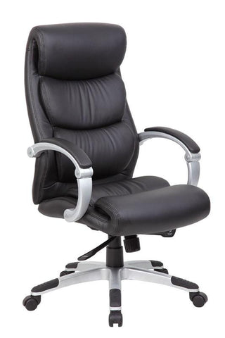 Boss Office Products B8881 Boss Hinged Arm Executive Chair With Synchro-Tilt - Peazz.com