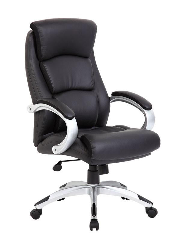 Boss Office Products B8981 Bk Boss Leatherplus Executive Chair