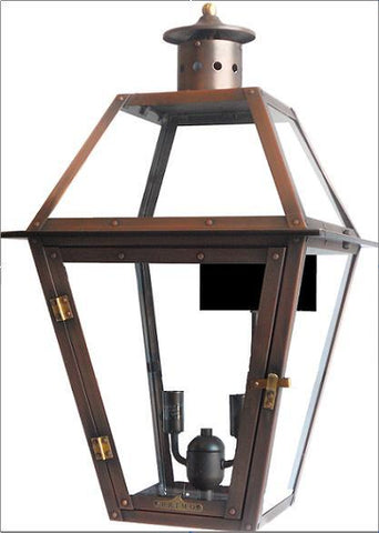 "Primo Lanterns PL-22E Traditional / Classic 24"" Height CSA Designed Certified Outdoor Wall Mounted Electric Lantern with 2 Light Cluster from the Bourbon Collection - Peazz.com"