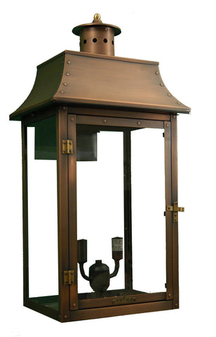 "Primo Lanterns PL-26E Traditional / Classic 26"" Height CSA Designed Certified Outdoor Wall Mounted Gas Lantern from the Bourbon Collection - Peazz.com"