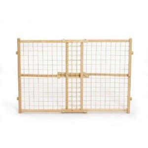 "High Wire Mesh Wood gate 29"" - 41.5"" x 24"" - Peazz.com"