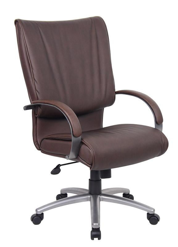 Leather | Bomber | Office | Brown | Chair | Boss | Back | High | Plus