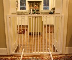 Cardinal Extra Tall Freestanding Pet Gate - White - Peazz.com