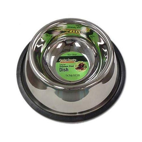 PetEdge ZW14232 No-Tip Non-Skid Stainless Steel Bowl 32 Oz. - Peazz.com