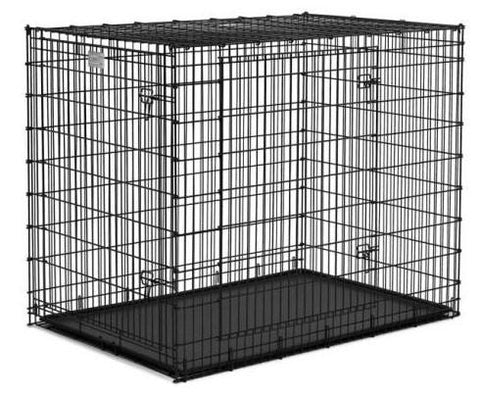 "QPets QPC-100XL Folding Dog Kennel Crate Cage w/ ABS Tray 36""L x 23""W x 26""H for X-Large Dogs - Peazz.com"