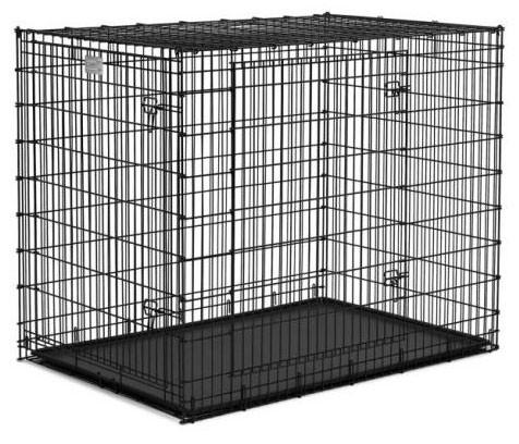"QPets QPC-100XXXL Folding Dog Kennel Crate Cage w/ ABS Tray 48""L x 30""W x 33""H - Peazz.com"