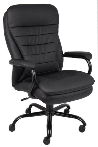 Boss Office Products B991-CP Boss Heavy Duty Double Plush Caressoftplus Chair - 350 Lbs - Peazz.com