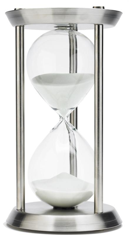 13 Inch 60 Minute Stainless Steel Hourglass Timer