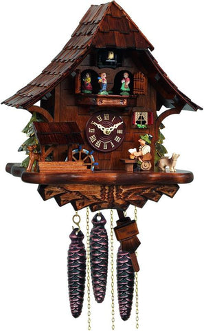 River City Clocks MD462-14 One Day Musical Beer Drinker Cuckoo Clock with Moving Waterwheel and Dancers - Peazz.com
