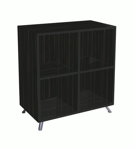 Boss Office Products N7004-BK Boss Veneer Series Bookcase - Peazz.com