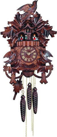 River City Clocks MD483-14 One Day Musical Cuckoo Clock with Hand carved Birds, Leaves, and Nest - Peazz.com